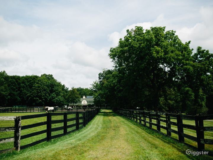 View of barn from front pastures