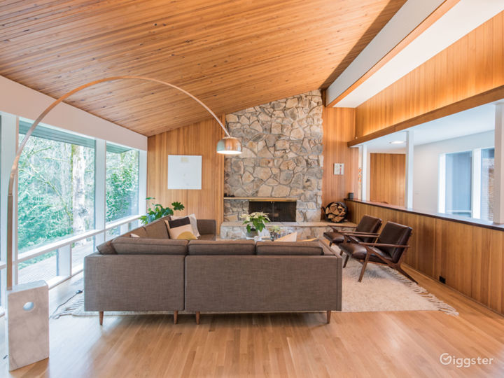 Mid-Century Modern Home on Private Tree-lined Lot