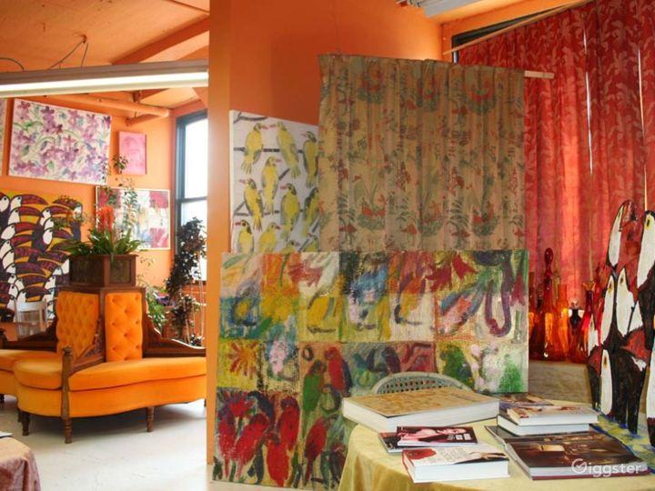 Ornate artists loft and studio: Location 3344 Photo 2