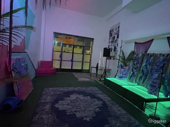 Psychedelic Event Space Loft with Murals Photo 4