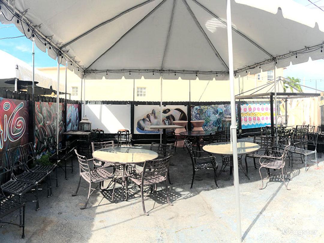 Harold's Coffee Lounge - Back patio 20'x20' tent