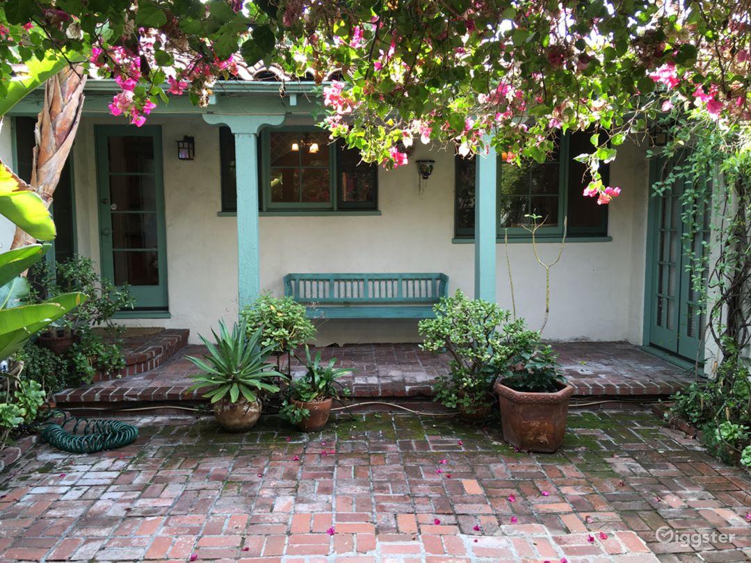 Enchanting interior courtyard.