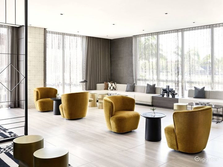 An Elegant Hotel Lounge in Miami Photo 4