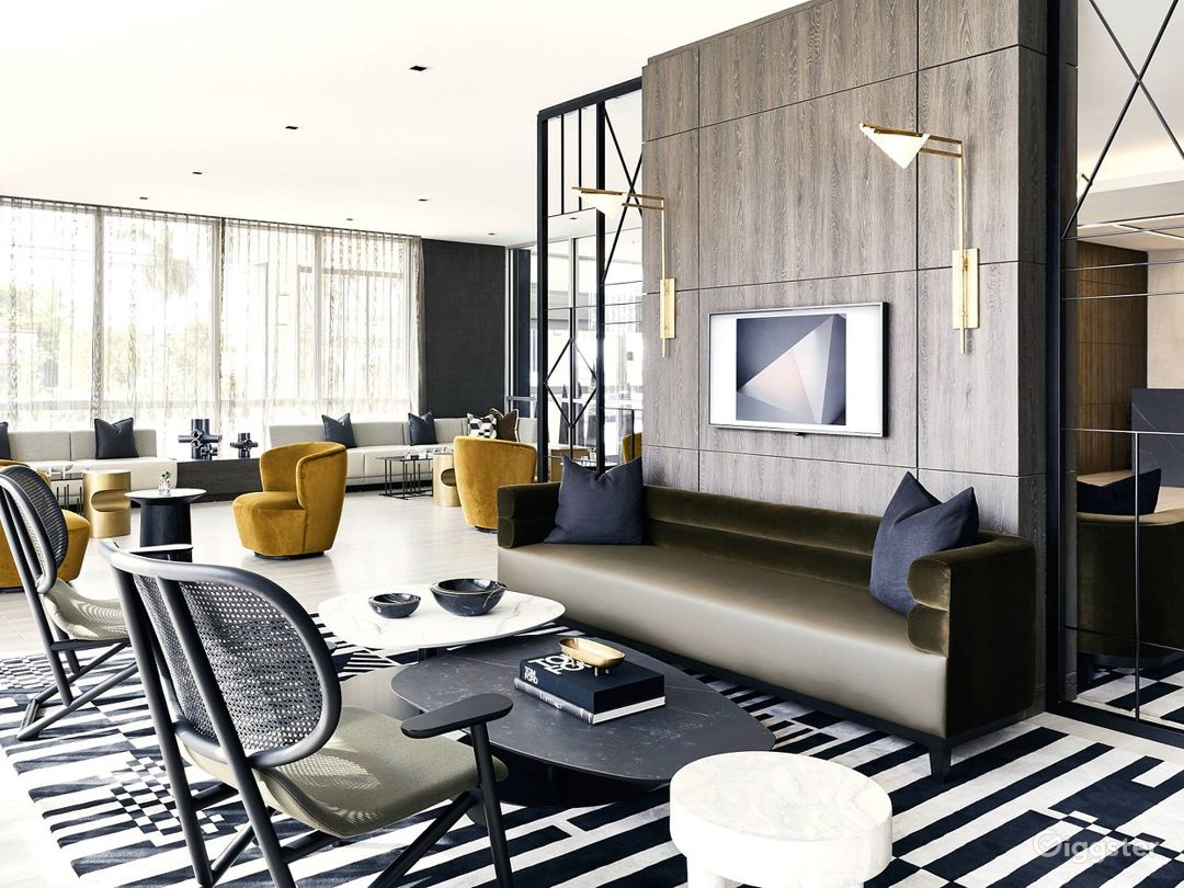 An Elegant Hotel Lounge in Miami Photo 1