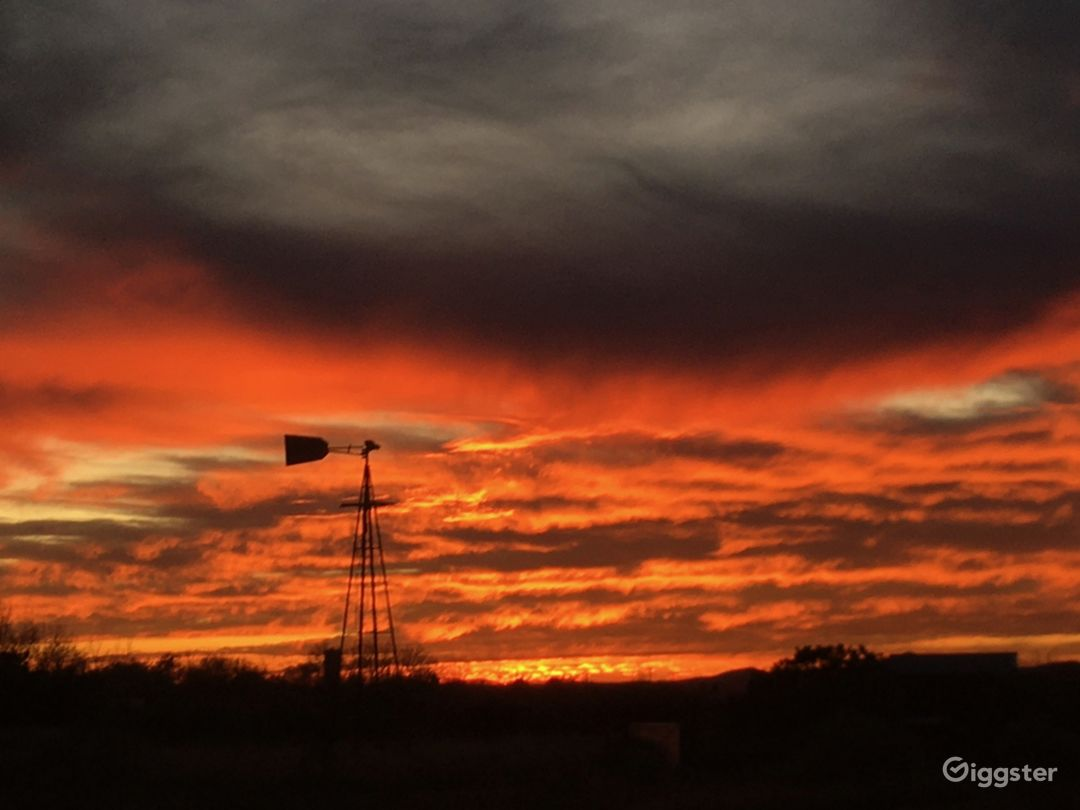 Our windmill in a Santa Fe sunset