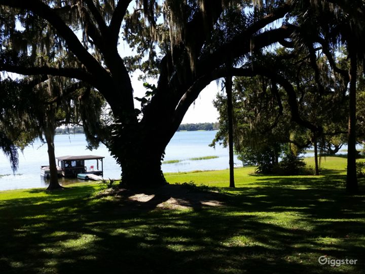 300 feet of lake front property with old growth oaks.