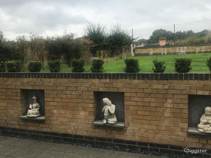 Wall Feature in Patio area of the garden
