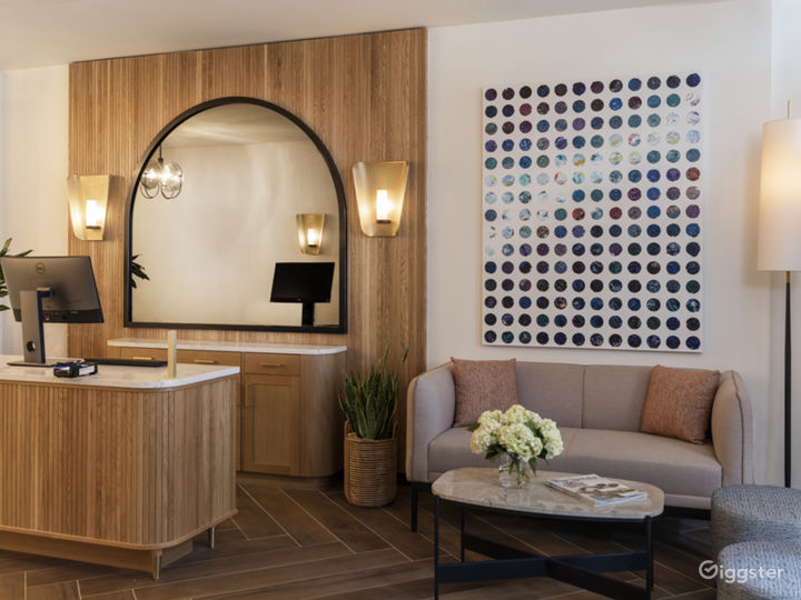 Boutique hotel with restaurant, tree lined street