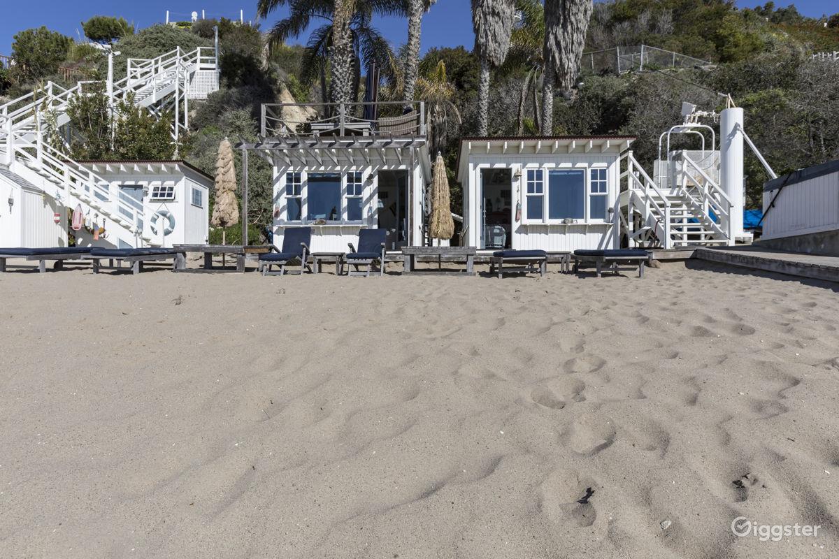 The House Residential La Cabana Beach Club For Film Photoshoot In Malibu
