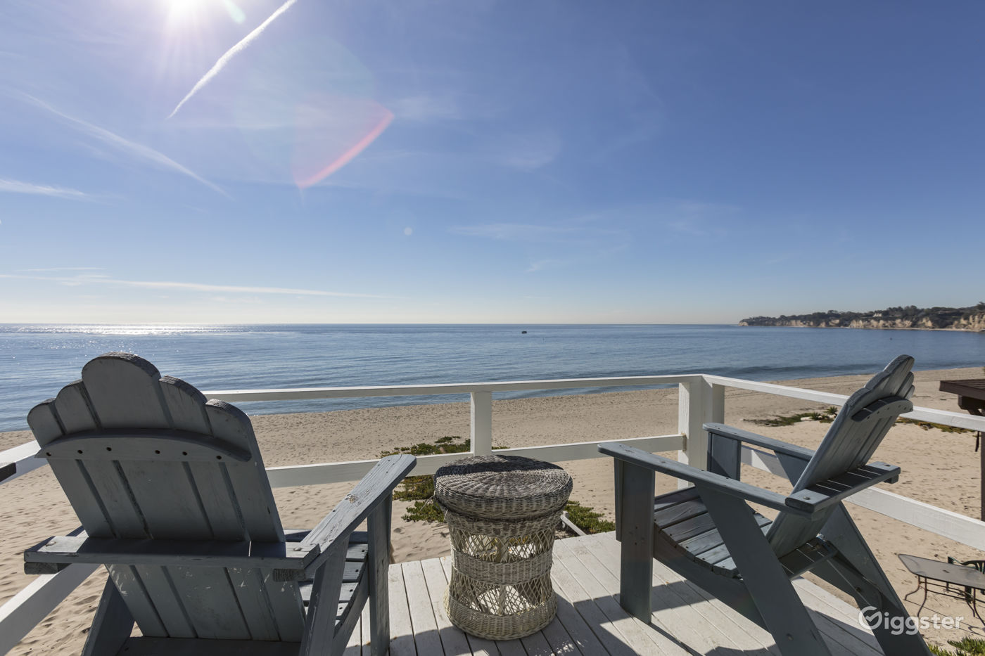 Beach Club w/ Large Grounds with Cabanas and Beach Access in Malibu Los Angeles Rental