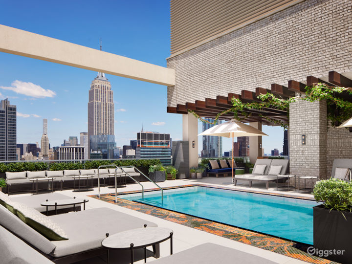 Rooftop pool with club area in Manhattan Photo 2