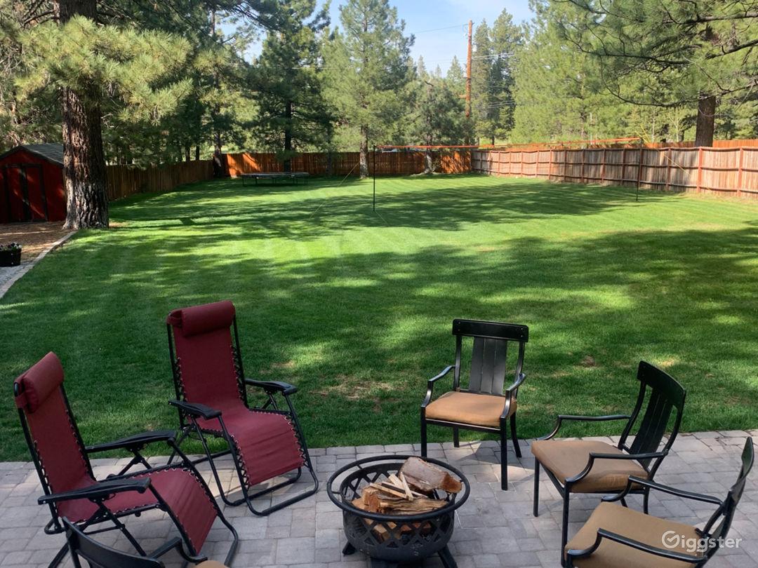 Back yard summer
