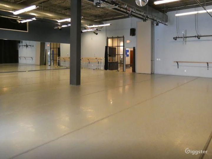 Dance Studio 3 with Light Harlequin Marley Floor Photo 4