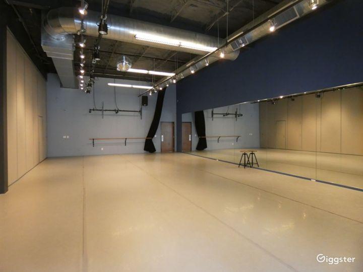 Dance Studio 3 with Light Harlequin Marley Floor Photo 2