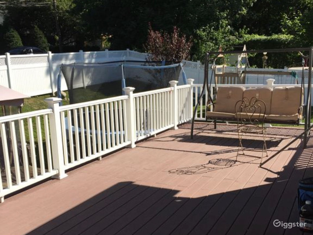 Deck View Of Yard