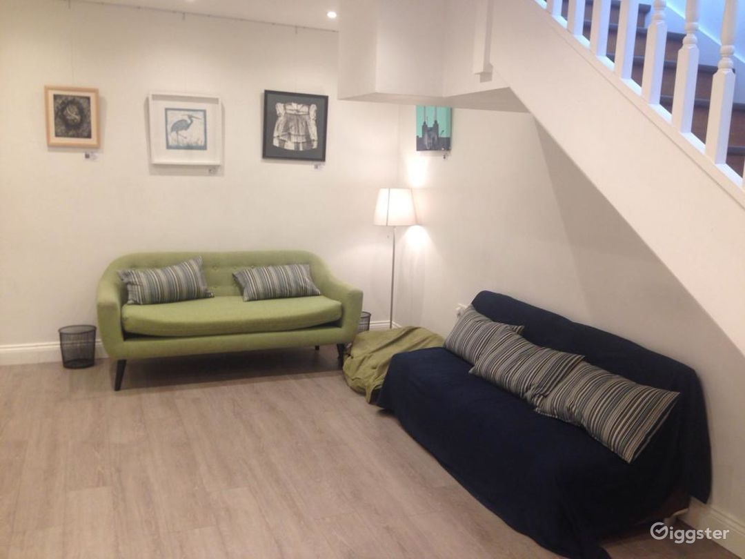 Relax on the sofa in our downstairs space