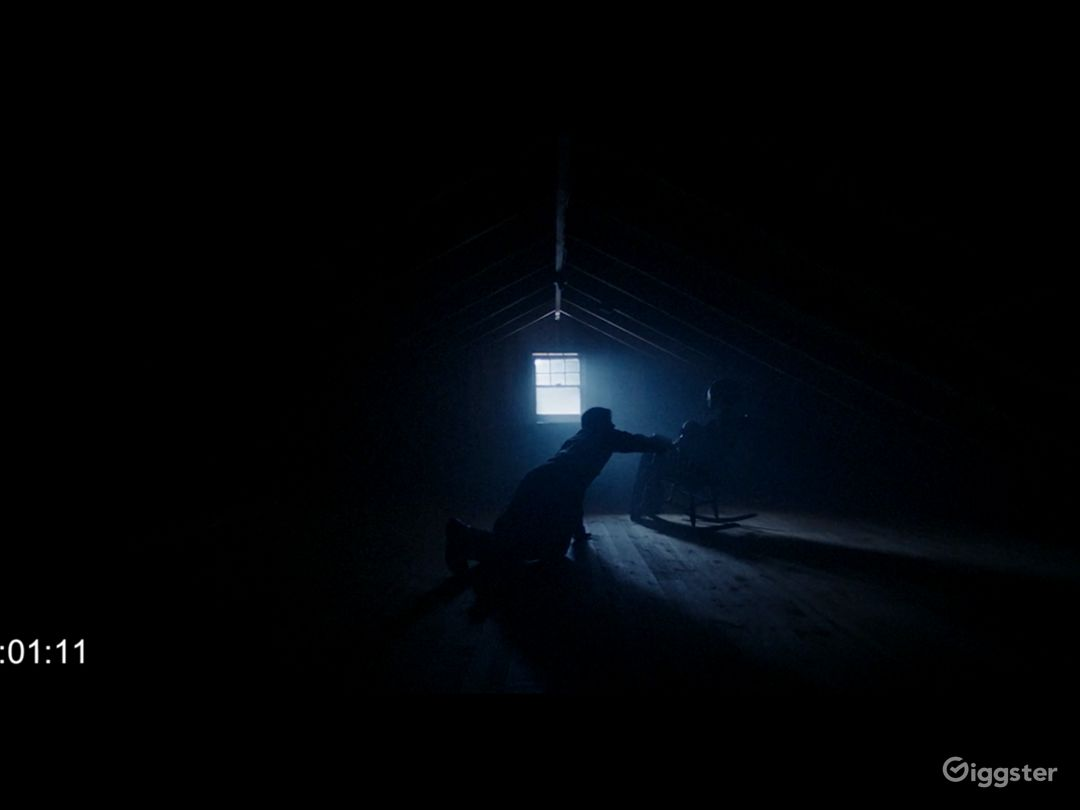 Still of a scene in attic