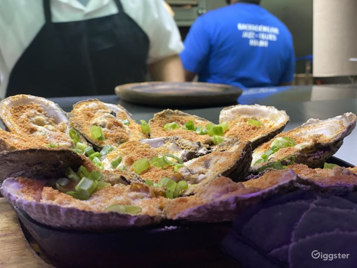 Broiled oysters we serve