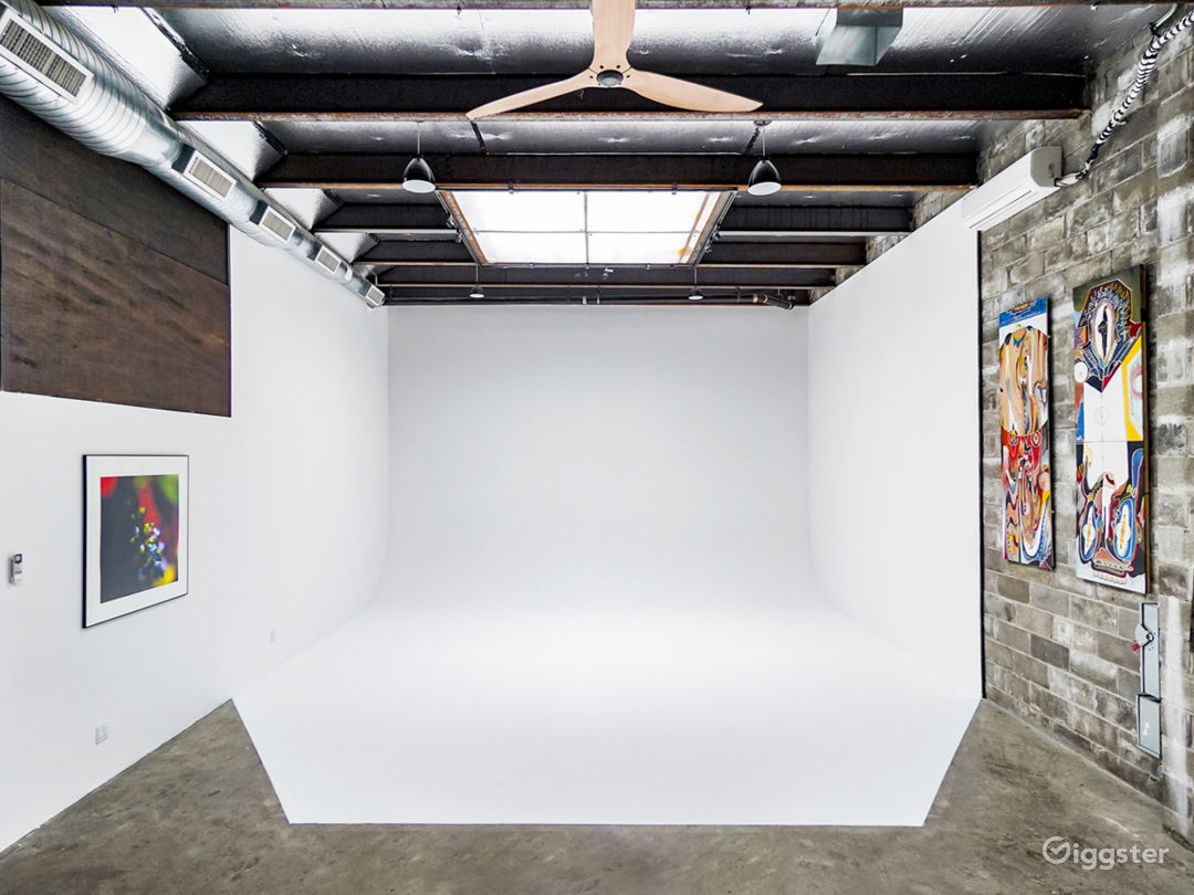 Our new 23ft Cyclorama Infinity Wall with 16ft ceiling height!