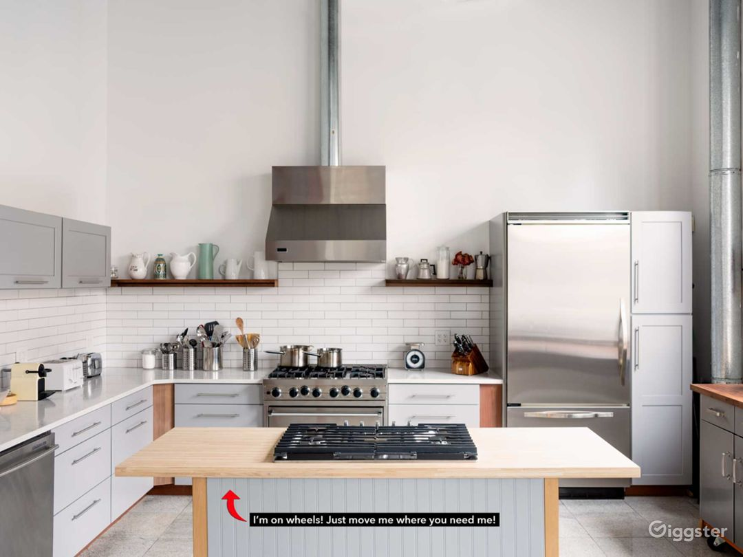 Our newly-renovated Gourmet Shoot Kitchen at Bond Street Studio with portable gas cooktop!