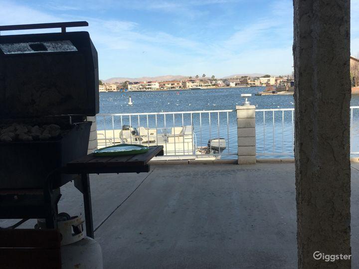 600 sqft lakeside patio