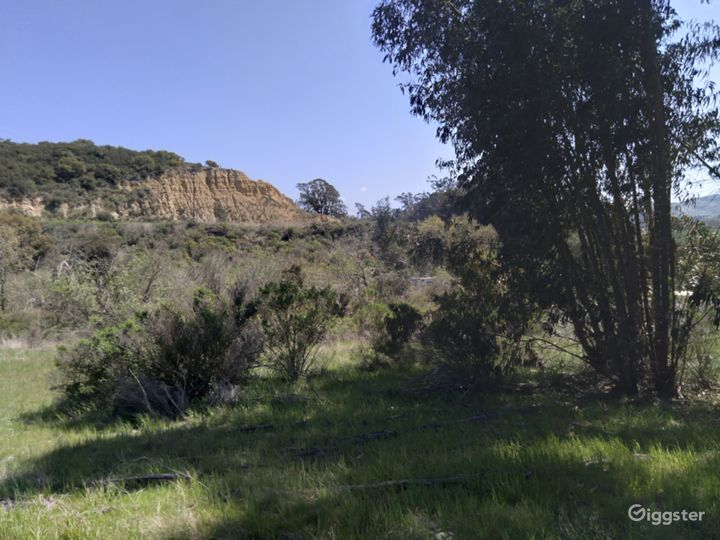 View from middle pasture toward La Purisima Mission Preserve and Rucker Rd.