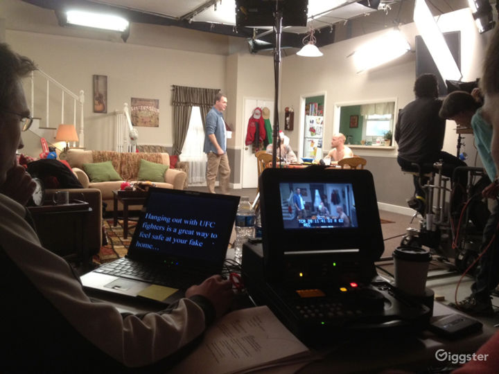 full house interior set with talent Norm Macdonald