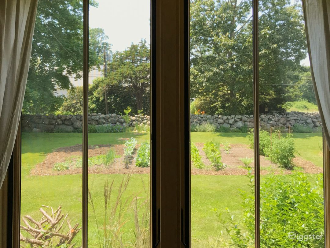 the view to the garden.
