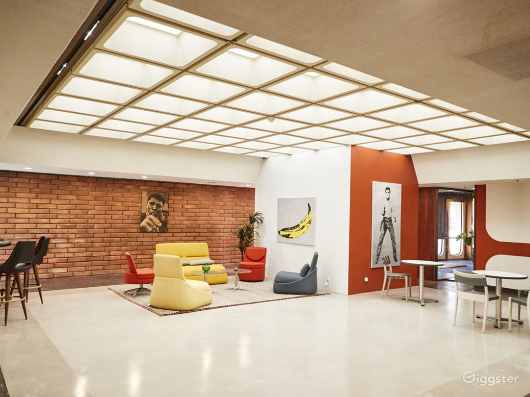 """Lobby / Lounge - Eclectic lobby and event space with a modern """"Rock 'n Roll Chic"""" vibe."""