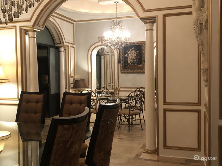Grand dining space