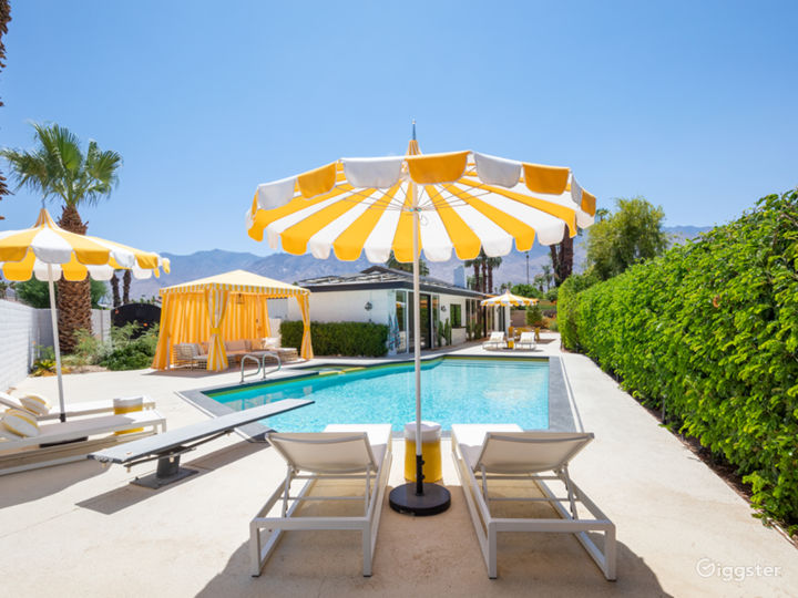 Chateau Palomino: Bright & glam Palm Springs style