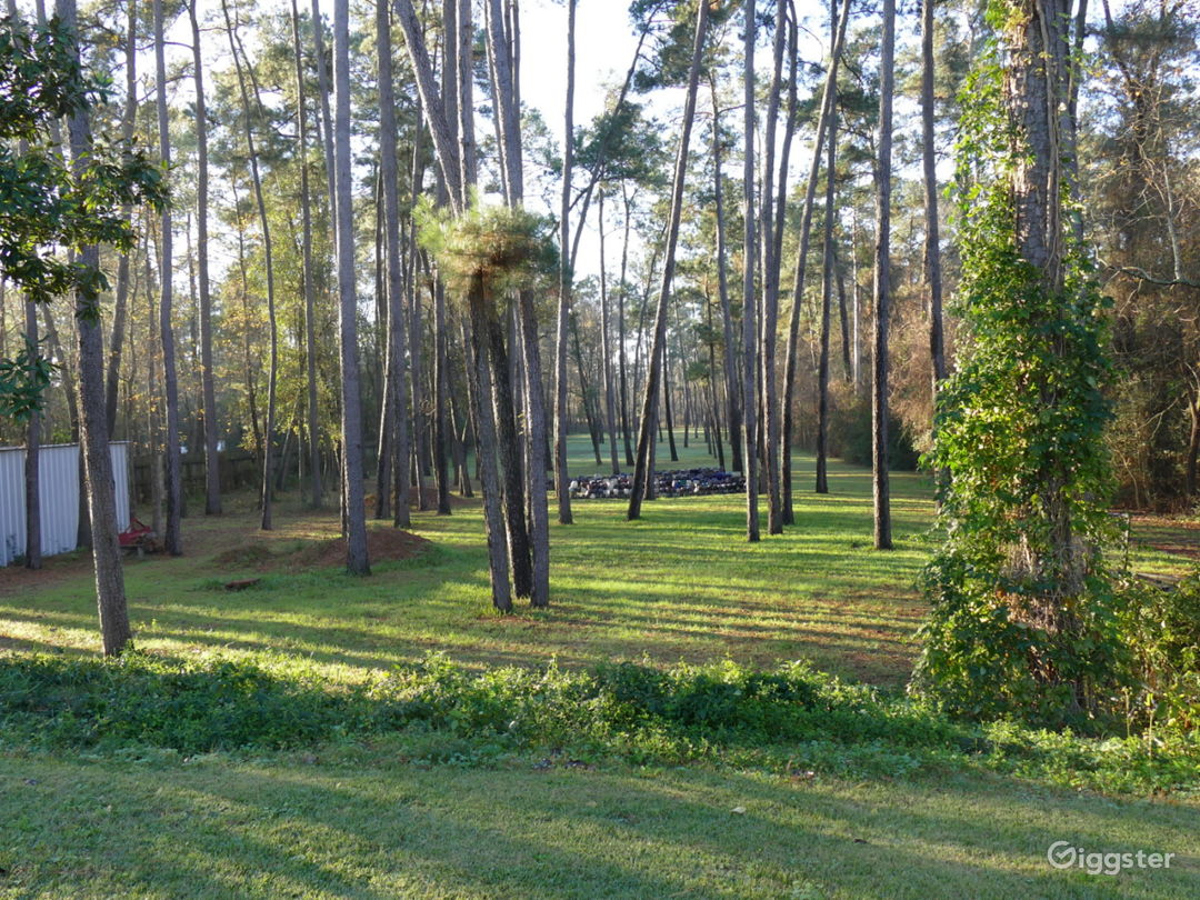 Large backlot - 2 plus acres of very private land.