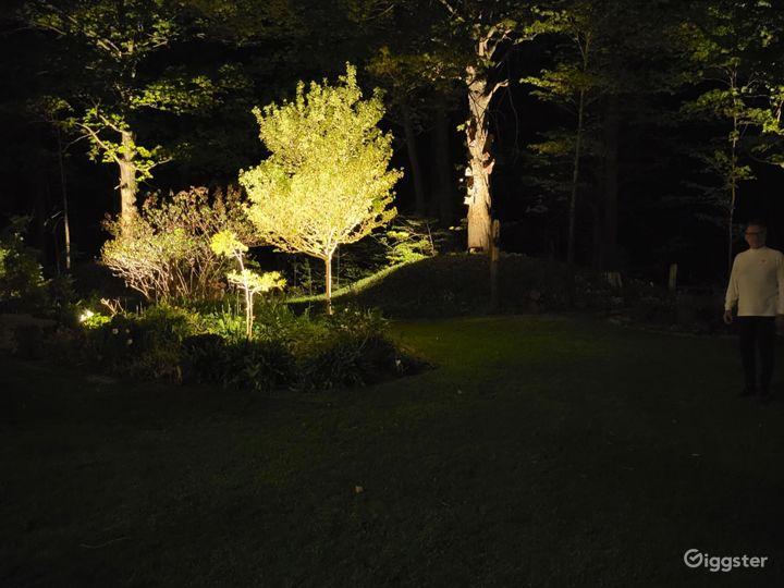 Night up lighting throughout