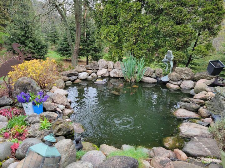 Front driveway pond