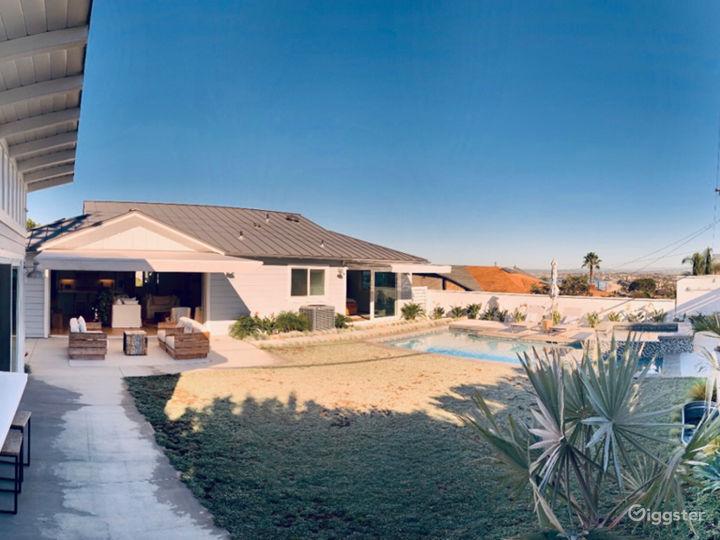 Backyard near guest house