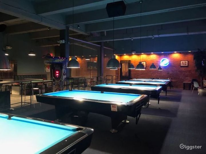 A One-Of-A-kind Billiards Hall in Queens