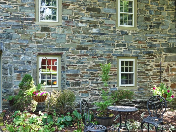 Exterior back patio