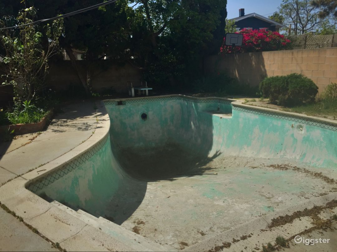Empty swimming pool in Mid City Los Angeles Photo 4