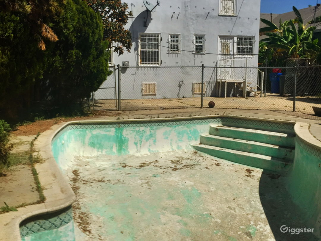 Empty swimming pool in Mid City Los Angeles Photo 5