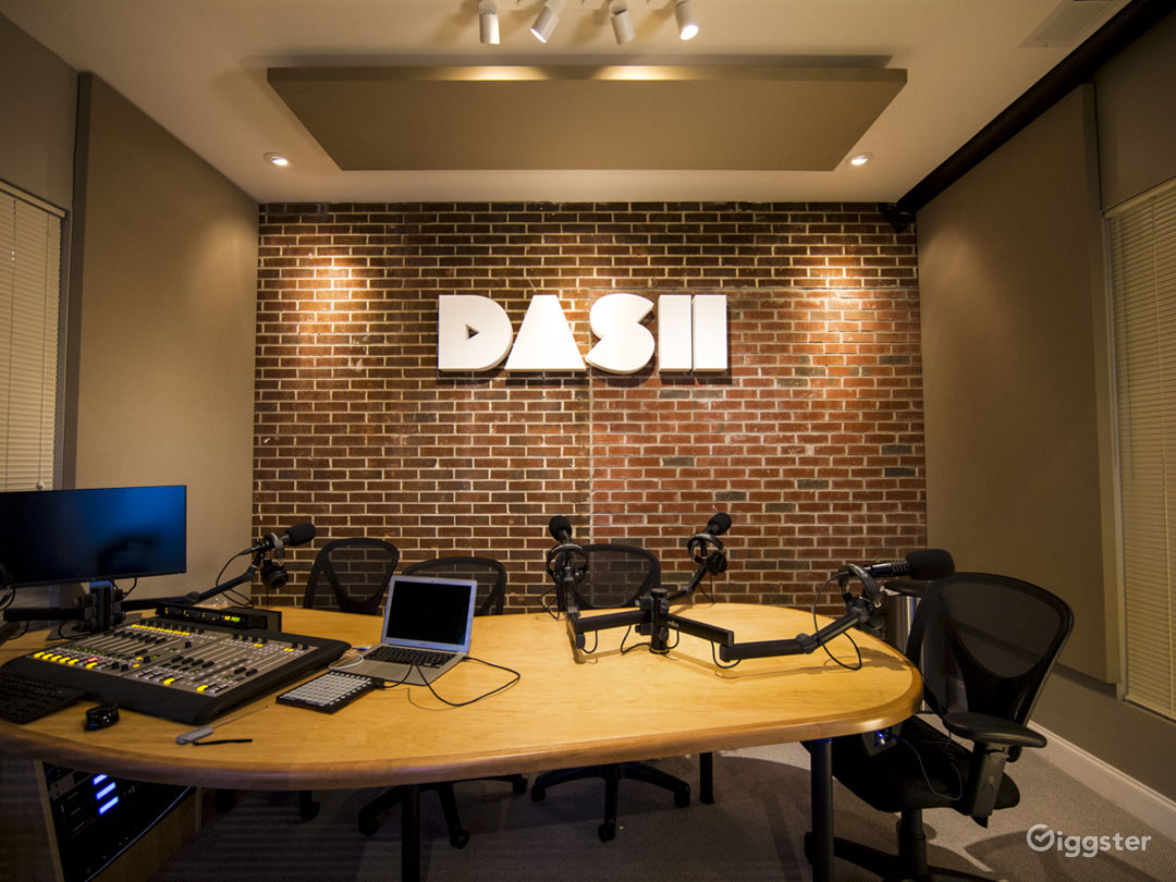 DASH Radio Station With 5 Mics That Can Record High Quality Audio.