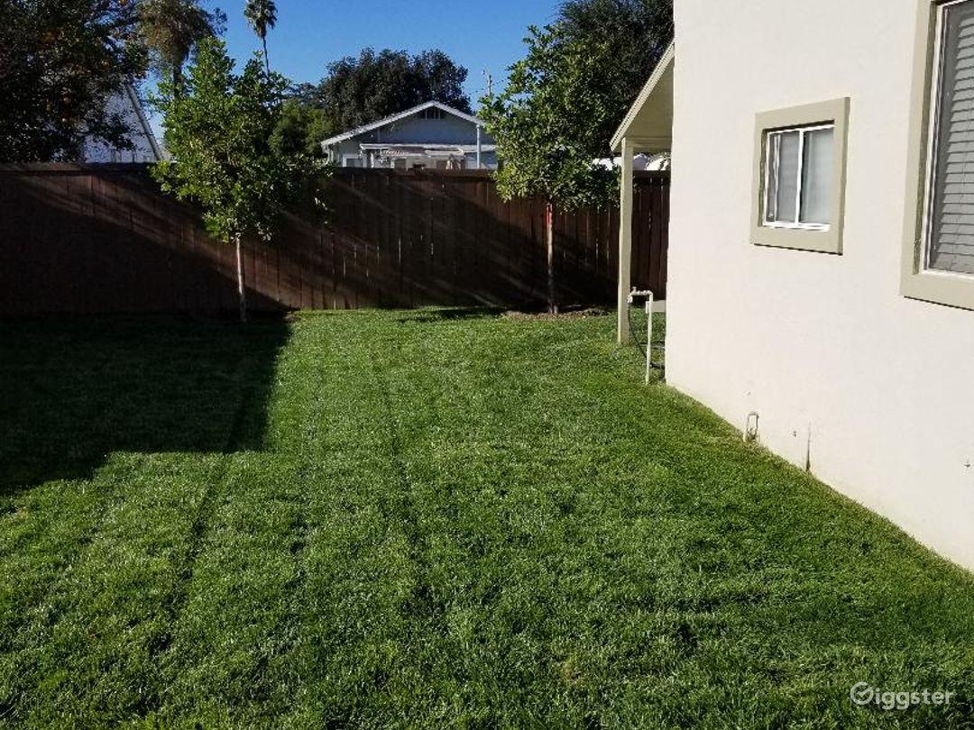 Backyard/side of guesthouse