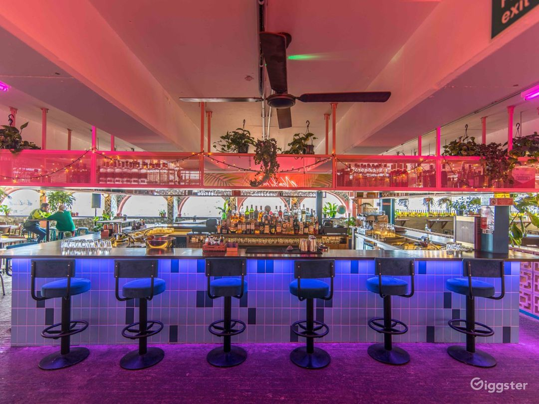 Our award winning bar design offers a fantastic backdrop for film and photoshoots.