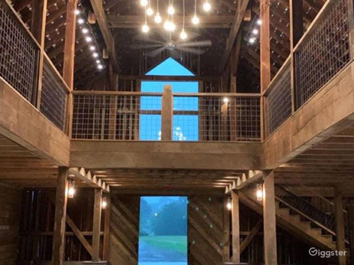 Indoor Barn Venue with loft