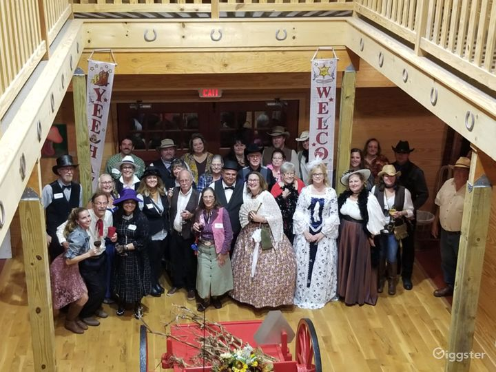 """""""Murder at the Deadwood Saloon"""". All the players inside the winery after the murder was solved!"""