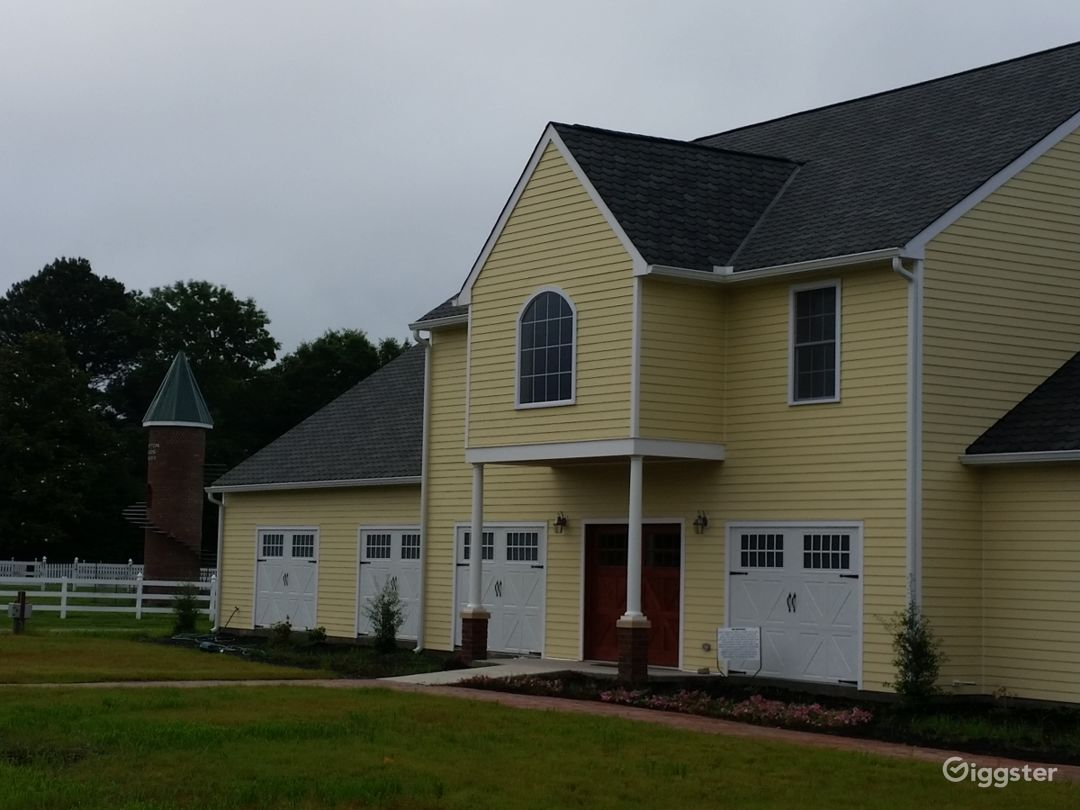 Front view of the Winery. It is the largest carriage house in Surry (maybe in all of eastern Virginia).