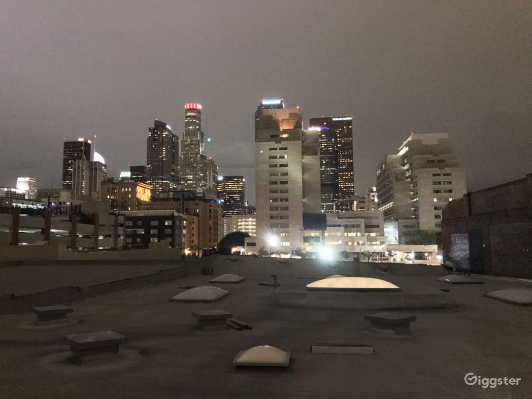 Nighttime rooftop