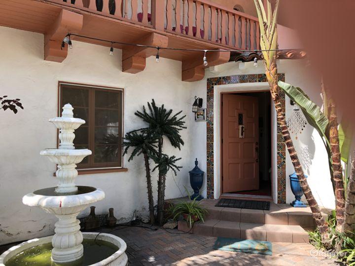 outside/entrance to house