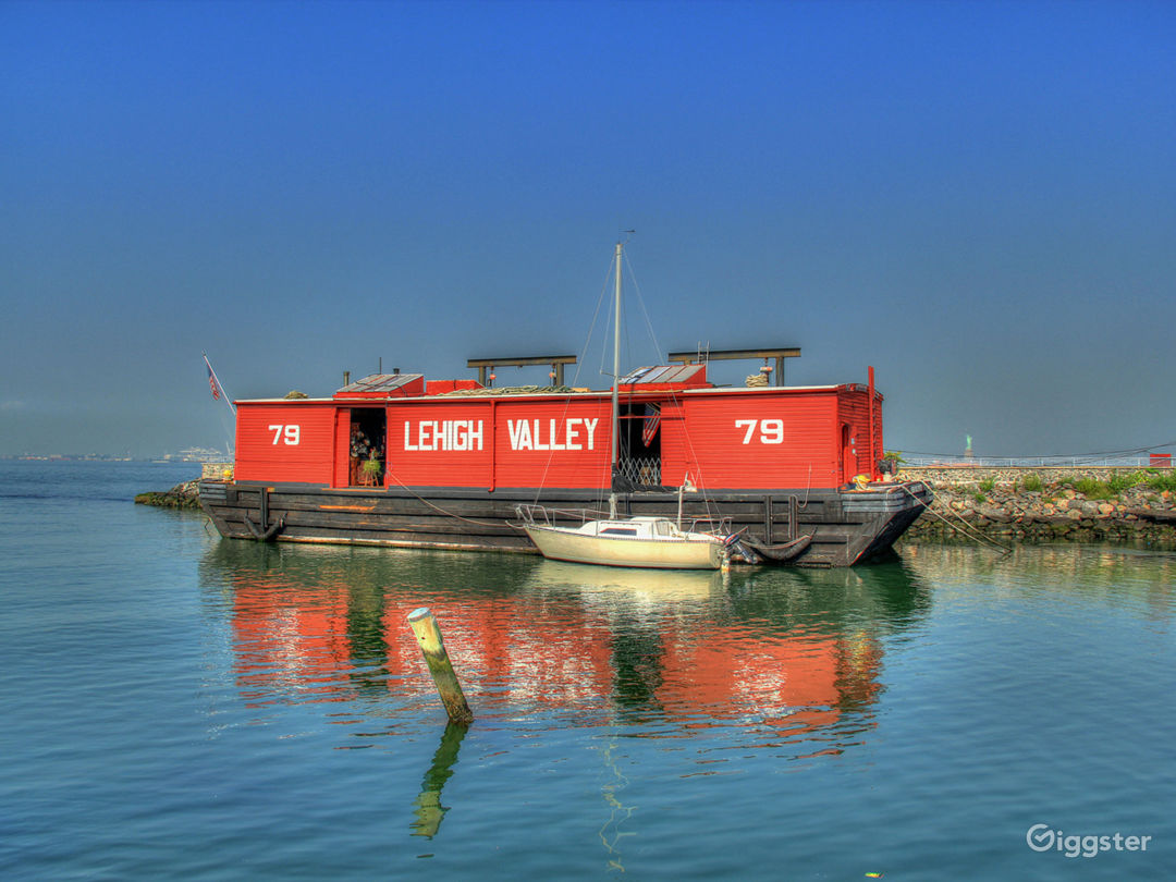 Red Hook's historic floating wooden railroad barge.