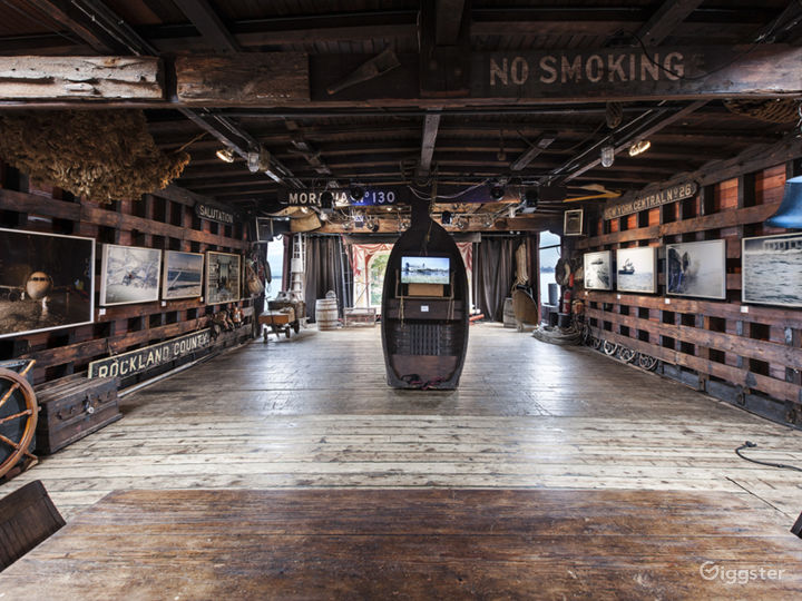 Interior of Waterfront Museum & Showboat Barge. Red Hook, Brooklyn.