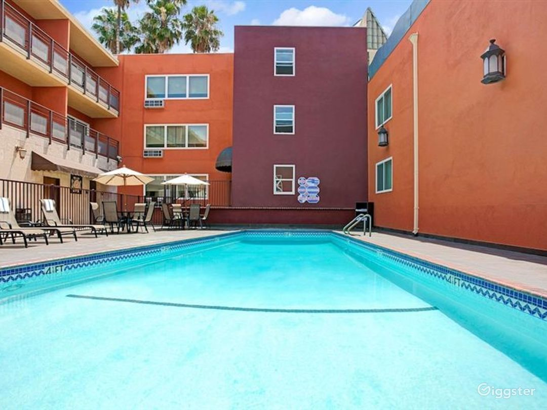 Outdoor Pool Area in LA Photo 1